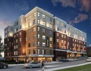 digital rendering of 23Twenty apartment building exterior