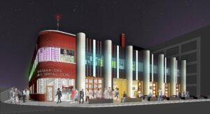 digital rendering of Des Moines social club