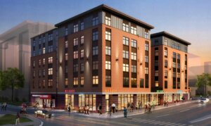digital rendering of the foundry student apartments